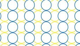 Простая современная абстрактная голубая и желтая картина колец Стоковые Изображения