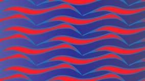 Простая современная абстрактная голубая и красная картина волны иллюстрация вектора