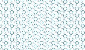 Простая современная абстрактная голубая картина пузырей Стоковая Фотография