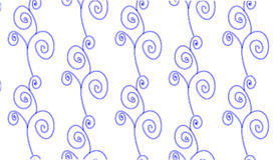 Простая современная абстрактная голубая картина цветка свирли Стоковая Фотография RF