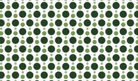 Простая современная абстрактная зеленая картина точек Стоковая Фотография