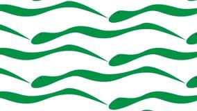 Простая современная абстрактная зеленая картина хода кисти иллюстрация вектора