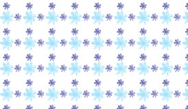 Простая современная абстрактная картина цветка сини и индиго Стоковая Фотография