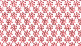 Простая современная абстрактная красная линия картина свирли цветка Стоковая Фотография