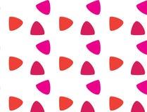 Простая современная абстрактная красная и розовая картина масштабов иллюстрация штока