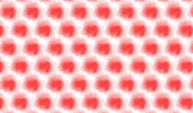 Простая современная абстрактная красная картина пятна акварели Стоковые Фотографии RF