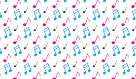 Простая современная абстрактная розовая и голубая музыка замечает картину Стоковые Фото