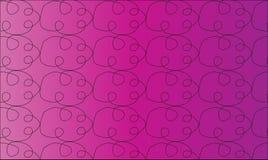 Простая современная абстрактная фиолетовая картина облака бесплатная иллюстрация