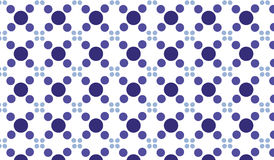 Простая современная абстрактная фиолетовая картина плиток кругов Стоковое Изображение