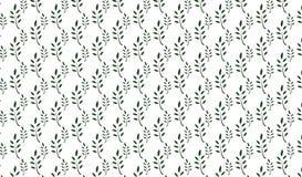 Простая современная абстрактная monochrome картина листьев Стоковые Фотографии RF