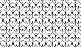 Простая современная абстрактная monochrome модель семьи Стоковые Фото