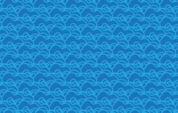 Простая современная голубая картина волн иллюстрация вектора