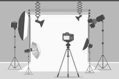 Простая студия фото иллюстрация вектора