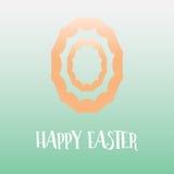 Простая счастливая предпосылка дизайна пасхального яйца Стоковые Изображения RF