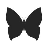 Простая форма силуэта бабочки иллюстрация вектора