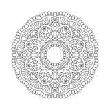 Простая флористическая мандала иллюстрация штока