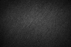 Простая черная текстура ткани дерюги предпосылки с серым конспектом света градиента для дизайна фона продукта или текста Стоковые Изображения RF