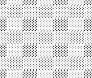Простая черно-белая любленная до безумия картина geo квадратов безшовная, вектор бесплатная иллюстрация