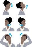 Простая шея протягивая тренировку Стоковые Фото