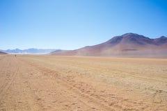 Простирание пустыни Sandy на боливийских Андах Стоковые Фото