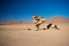 Простирание пустыни Sandy на боливийских Андах Стоковая Фотография RF