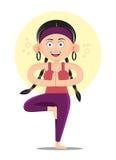 Простирание фитнеса женщины йоги тонкое Стоковое Изображение