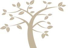 Простое графическое дерево Стоковое Изображение