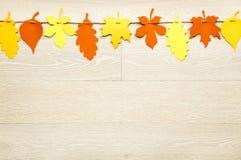 Простое, деревенское garla украшений благодарения падения стиля страны стоковое фото rf