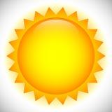 Простое зажим-искусство солнца, иллюстрация на лето, погода, природа, o иллюстрация вектора