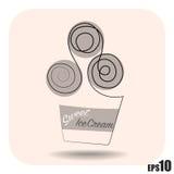 Простое мороженое вектора Стоковое Изображение