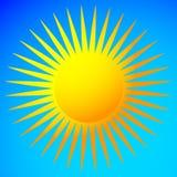 Простое плоское зажим-искусство солнца, значок солнца с нервной короной бесплатная иллюстрация
