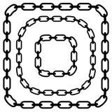Простое плоское звено цепи, цепная иллюстрация Силуэт chai Стоковое Фото