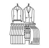 Простое символическое изображение одежды storefront Стоковые Изображения RF