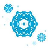 Простое собрание значка снежинки изолированное на белой предпосылке Бесплатная Иллюстрация