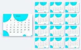 Простое yesr 2019, дизайн eps10 календаря вектора запаса стоковая фотография rf