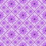 Простой безшовный цветочный узор Ретро, проверенный, Стоковые Изображения
