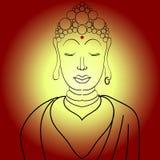 Простой вектор Будда Стоковое Фото