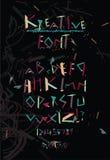 Простой геометрический футуристический алфавит шрифта Стоковое Фото