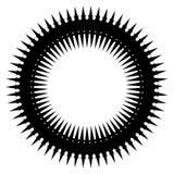 Простой геометрический элемент круга изолированный на белизне Стоковые Фото