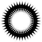 Простой геометрический элемент круга изолированный на белизне Стоковые Изображения RF