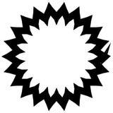 Простой геометрический элемент круга изолированный на белизне Стоковое Фото