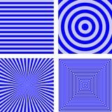 Простой голубой striped комплект предпосылки картины Стоковые Фото
