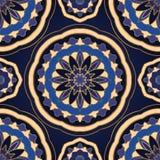 Простой голубой орнамент иллюстрация штока
