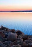 Простой заход солнца Стоковая Фотография RF