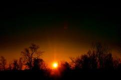 Простой зимний день в NH в середине зимы Стоковые Изображения RF