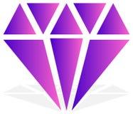 Простой диамант, знак ювелирных изделий, символ Драгоценный камень, рубиновый значок, Стоковое Изображение RF