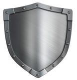 Простой изолированный экран металла герба Стоковые Изображения