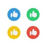 Простой как значки социальных средств массовой информации с 4 цветами Стоковые Изображения