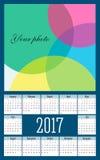 Простой календарь вектора 2017 год Стоковая Фотография RF