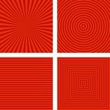 Простой красный striped комплект предпосылки картины Стоковая Фотография RF